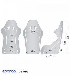 SEDILE ALPHA 2023 TAGLIA XL