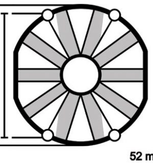 ELETTROVENTOLA ASPIRANTE VA22-AP11/C-50A Ø 167mm