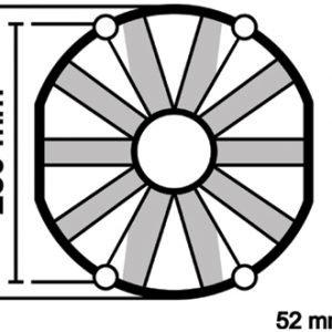 ELETTROVENTOLA ASPIRANTE VA09-AP12/C-54A Ø 280mm