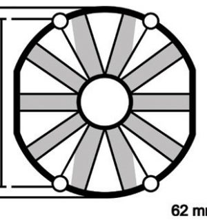 ELETTROVENTOLA ASPIRANTE VA10-AP50/C-61A Ø 305mm